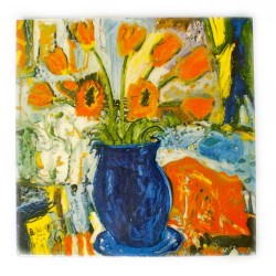 Tulips in a Chelsea Vase - Teapot Stand