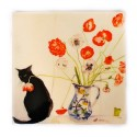 Poppies and Black Cat - Teapot Stand