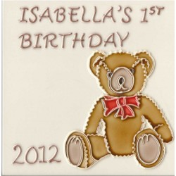 Bespoke 1st Birthday Teddy Tile